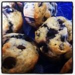 muffin banane bleuet chia