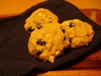 Cookies moelleux chocolat blanc et bleuets
