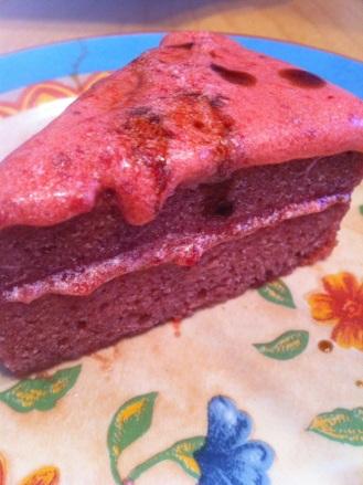 Gâteau fraises vegan