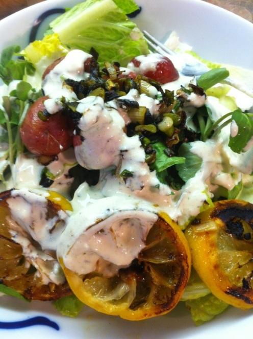 Salade de cresson et citrons grillés5