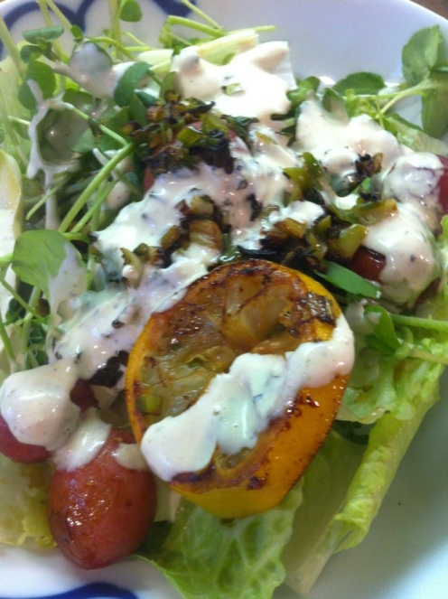 Salade de cresson et citrons grillés4