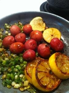 Salade de cresson et citrons grillés2