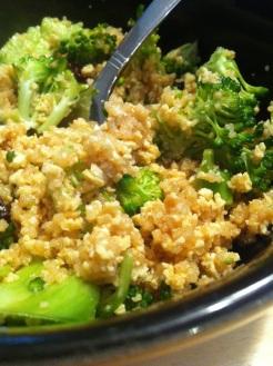 couscous brocoli tofu raisins