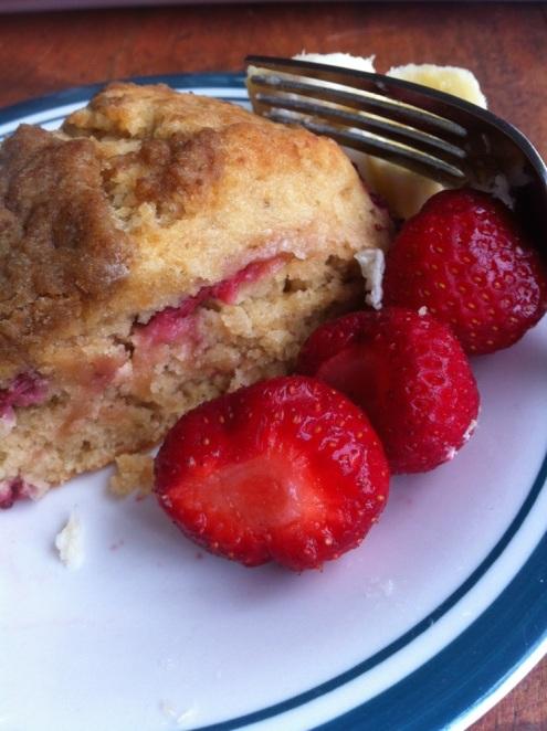 fraise et scone