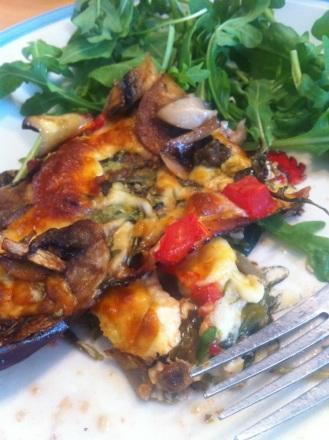 Pizza aubergine sans gluten