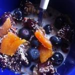 dejeuner chia bleuets abricot