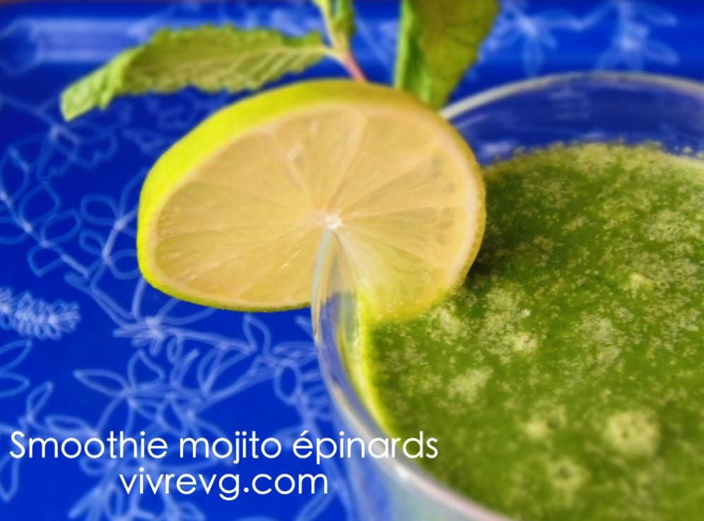 smoothie mojito épinards