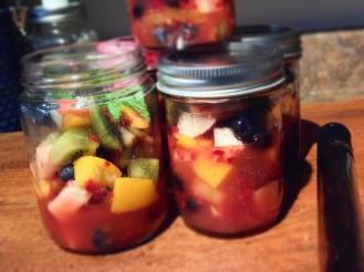 pots mason fruits