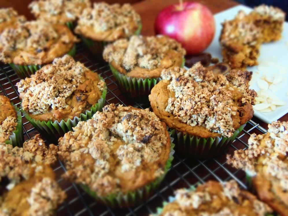 muffin à la patate douce et dattes-pommes https://vivrevg.com/2014/03/17/muffin-patate-doucesg/