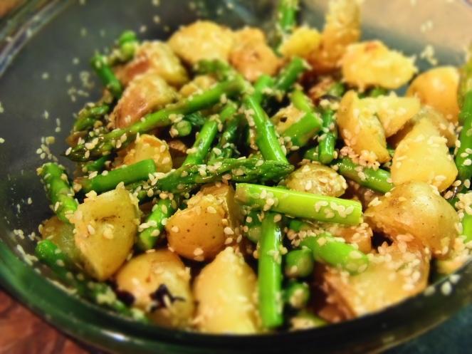 salade chaude de pommes de terre et asperges