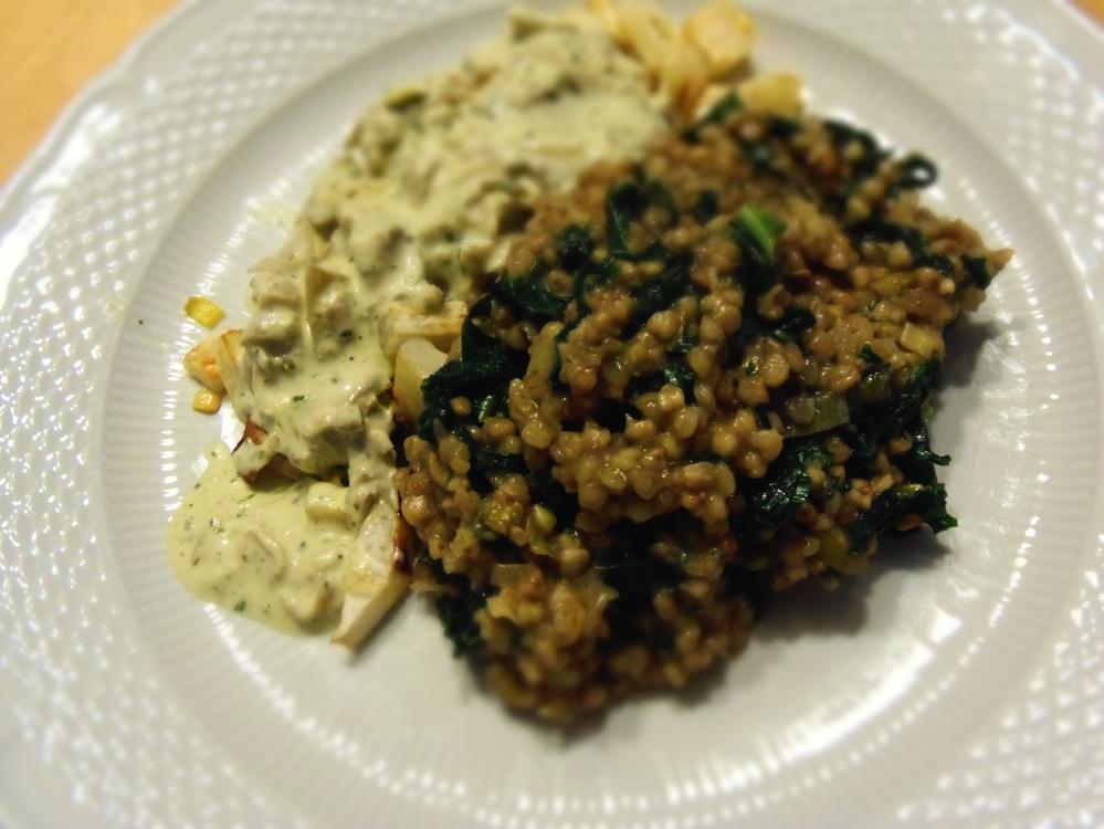 risotto de sarrasin salade de celeri rave