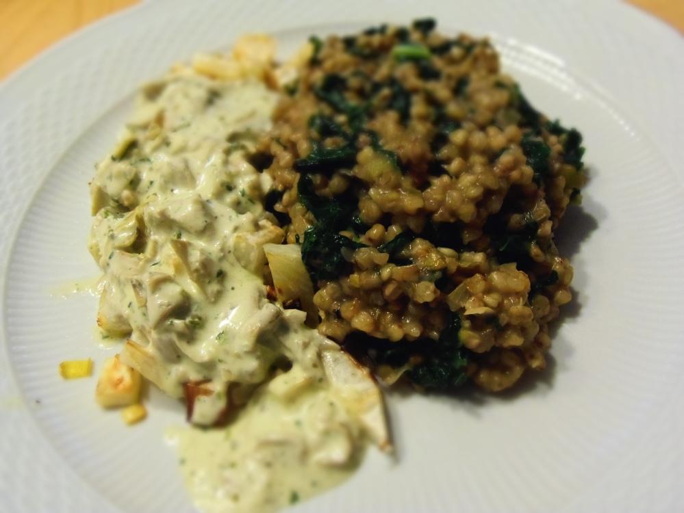 risotto sarrasin kale