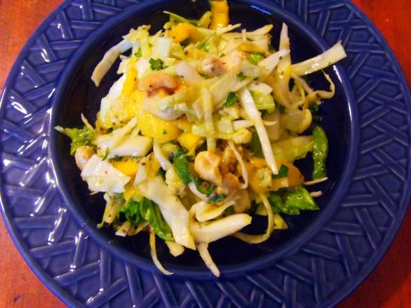 salade chou mangue cajou