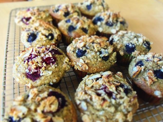 muffin bleuets banane curcuma