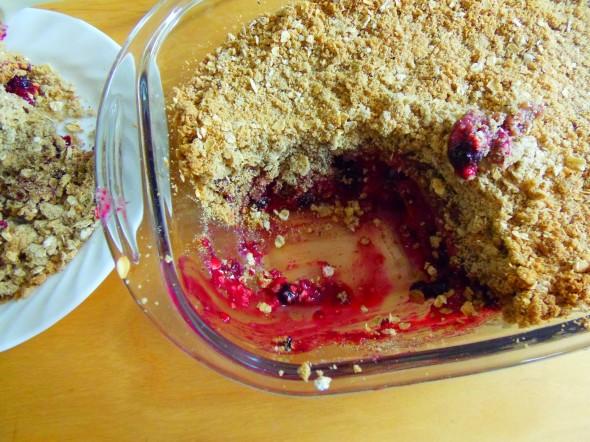 crumble fruits sans gluten