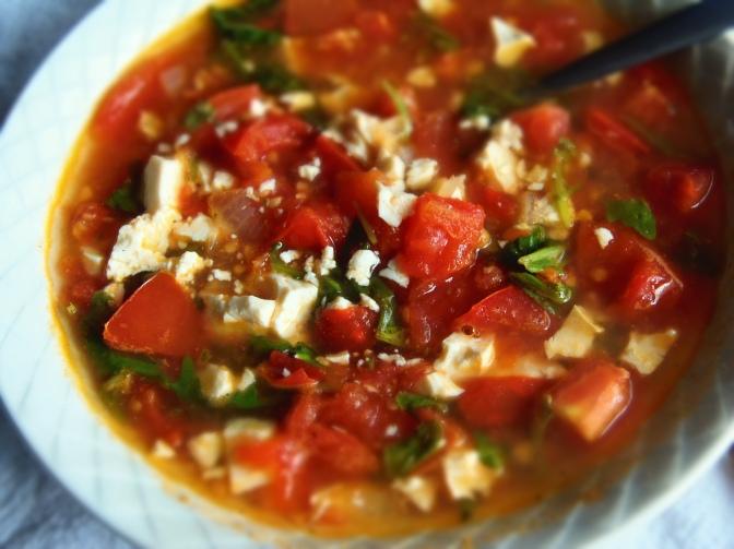 Strataciatella tomates roquette-soupe italienne-