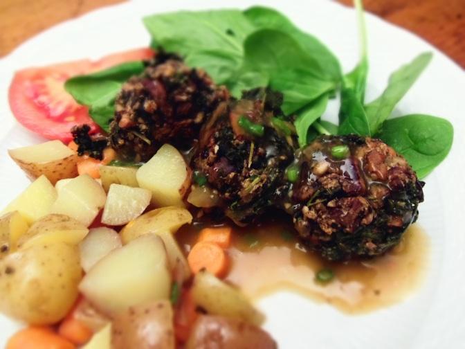 Boulettes vegan de lentilles champignons et noix