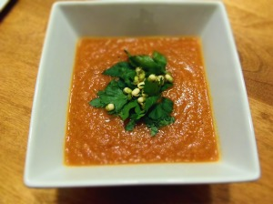 soupe froide tomate proteines