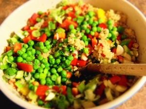 quinoa poivron