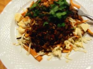 sauce gravy miso poutine legumes vegan