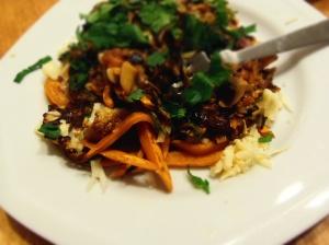 poutine legumes sauce vegan
