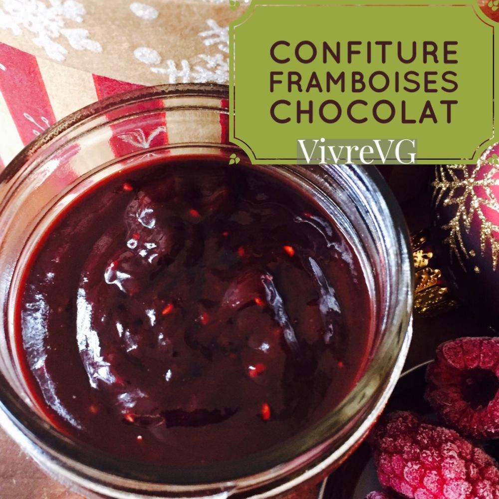 confiture chocolat noir et framboises vivrevg