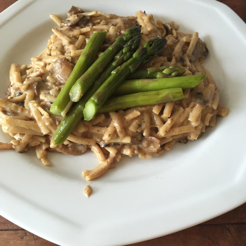 linguini sauce champignons  vegan